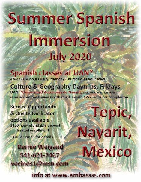 Summer Spanish Immersion 2020 flyer copy